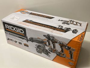 RIDGID 18-Volt Lithium-Ion Cordless 5-Tool Combo Kit with (2) 4.0 Ah Batteries, 18-Volt Charger for Sale in Elizabeth, NJ