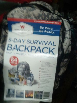 5 day survival backpack for Sale in Azusa, CA