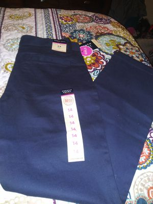 French Toast Dark Blue School Uniform Pants for girls. Size 14. NEW with tags. for Sale in Lancaster, TX