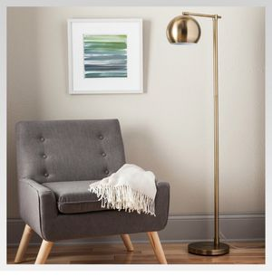 Metal Globe Floor Lamp in Brass for Sale in Culver City, CA