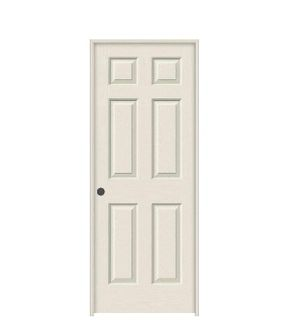 JELD-WEN 30 in. x 80 in. Colonist Primed Right-Hand Textured Solid Core Molded Composite MDF Single Prehung Interior Door for Sale in Industry, CA