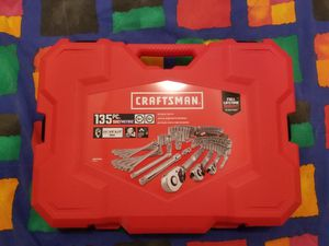 New CRAFTSMAN135-Piece Standard (SAE) and Metric Combination Polished Chrome Mechanics Tool Set for Sale in Renton, WA