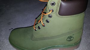 Timberland size 9 boots brand new green edition for Sale in Seattle, WA