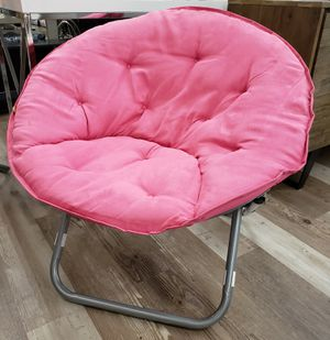 NEW Pink Microfiber Saucer Chair: njft hsewres kids for Sale in Burlington, NJ