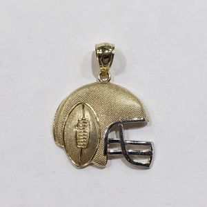 10k Yellow Gold Unisex Football Helmet Pendant 10012406-1 for Sale in Tampa, FL