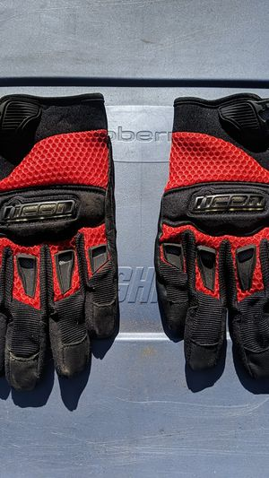 Icon medium motorcycle gloves for Sale in Lakewood, CO
