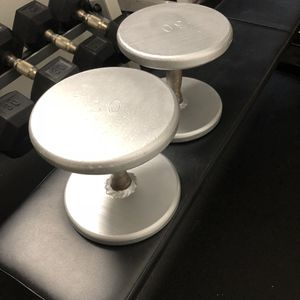 Jade metal Dumbbells pair of 30s for Sale in Queens, NY