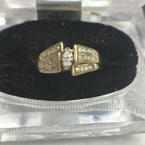 10k yellow gold diamond ring size 8 for Sale in Baltimore, MD