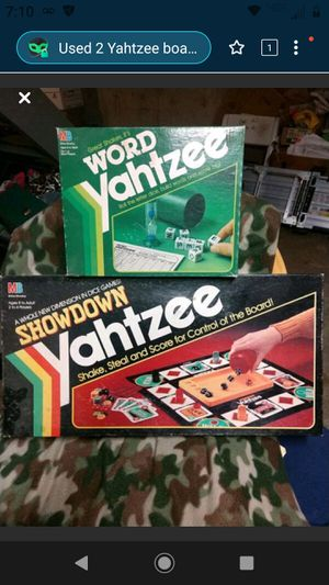 2 Yahtzee board games for Sale in Cincinnati, OH