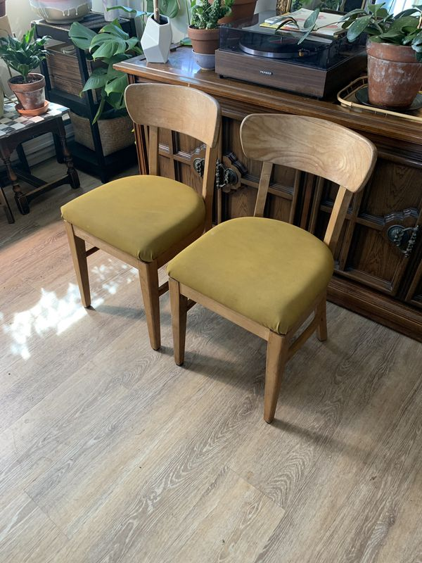 2 Mid Century Dining Chairs
