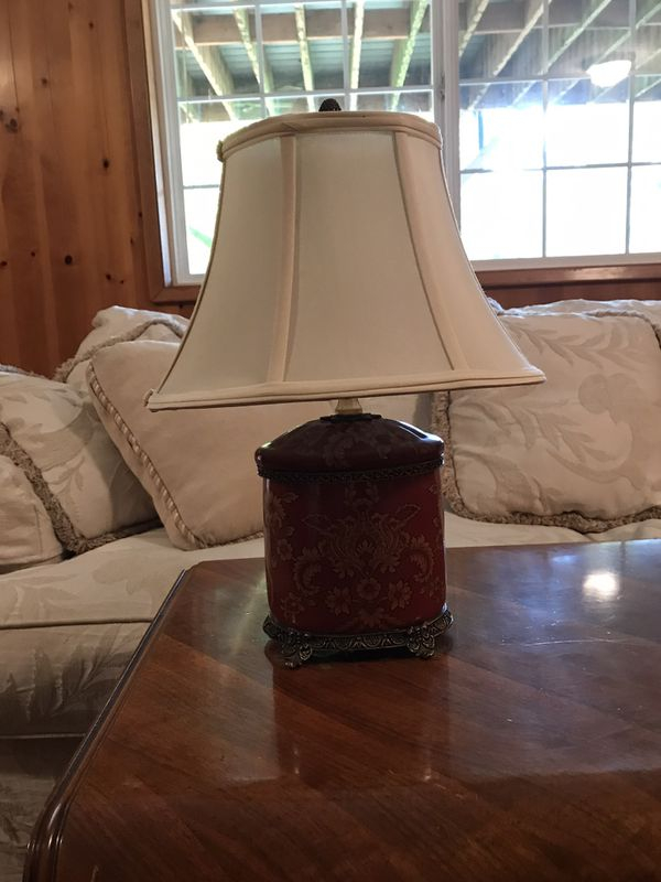 Small oriental style lamp. Height is 16 inches.