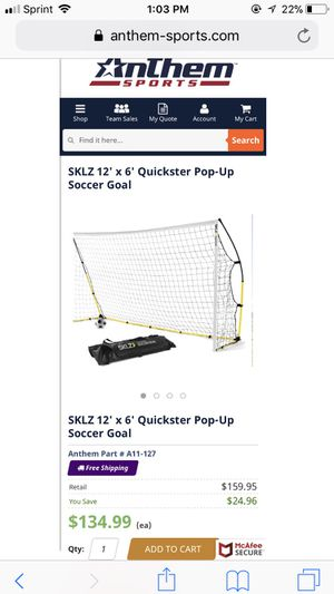 POP UP SOCCER GOAL 12 x 6 for Sale in Compton, CA