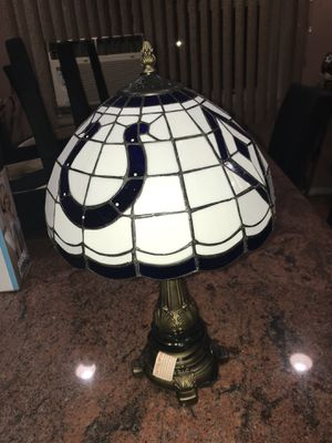 Rare Indianapolis colts nfl stained glass lamp mint collectible for Sale in Seaford, NY