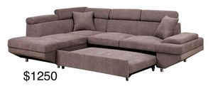 New brown sectional couch with pullout bed for Sale in Santa Monica, CA