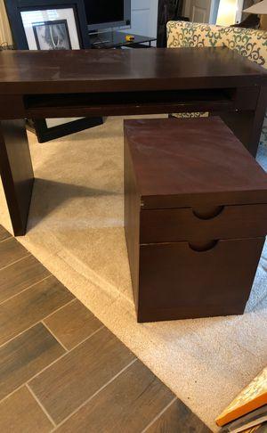 Desk and File Cabinet for Sale in UPPR MARLBORO, MD