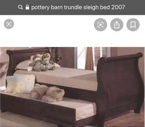 Pottery Barn trundle sleigh bed - twin for Sale in Edgewater, NJ