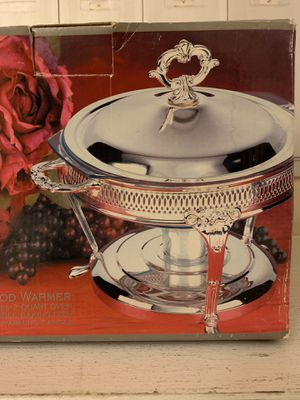 BRAND NEW silver food warmer for Sale in Fairfax, VA