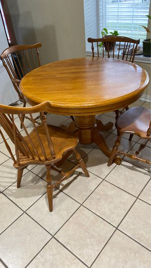 Breakfast table with 4 chairs asking $50 for Sale in Garland, TX