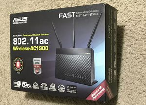 Asus RT-AC68P Dual Band 4 Port Wireless AC1900 802.11 Gigabit Router fast for Sale in San Diego, CA