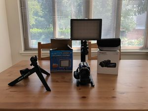 HD Video Camera, LED Video Lighting, Camera Grip, Ultra Pod II for Sale in Chevy Chase, MD