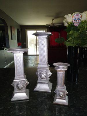 3 ceramic candlestick holders for Sale in Pleasanton, CA