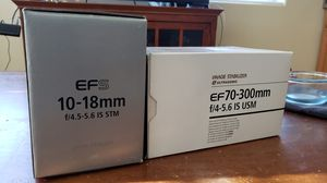 Canon EF & EFS lenses for sale like new with box for Sale in Vancouver, WA