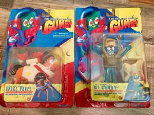 Gumby Vintage Toy Set Of 2 Rate 1996 Action Figures for Sale in Long Beach, CA