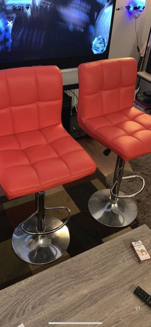 Leather bar or salon swiveling chairs for Sale in Oshkosh, WI