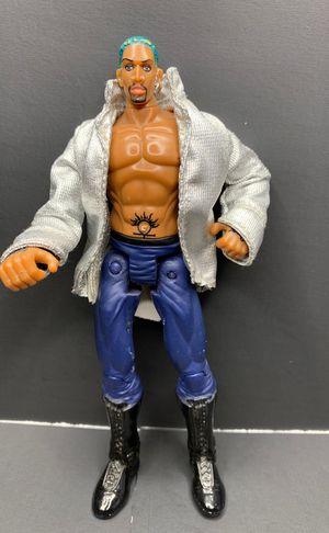 Dennis Rodman Green Hair 2000 Toy Biz WCW Power Slam Figure Flippin' Back Board for Sale in Vancouver, WA