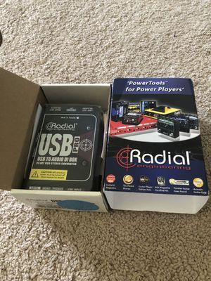 Radial USB-Pro Stereo Laptop DI Box for Sale in Austin, TX