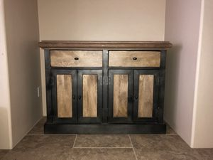 Iron and wood cabinet for Sale in Scottsdale, AZ