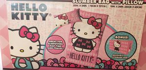Hello Kitty Sumber bag and Pillow, New in box with reusable bin. for Sale in Cape Coral, FL