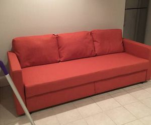 Orange/red couch for Sale in Alexandria, VA