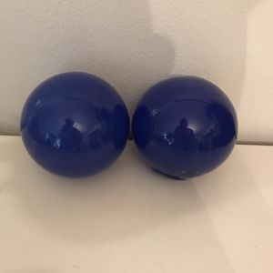 2 Blue Blown Glass Spheres/Floats for Sale in Seattle, WA