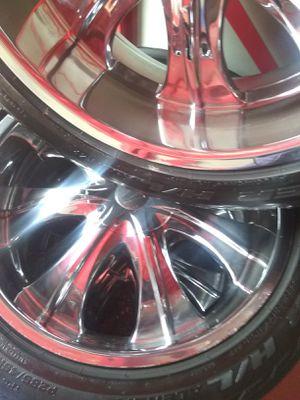 Rims tires 22s 6 lug for Sale in Fullerton, CA