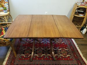 Beautiful vintage drop lead table with rolling metal claw legs for Sale in Washington, DC