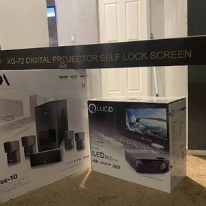 4k Projector, Speakers, and Screen $2500 OBO for Sale in Glendale, CA