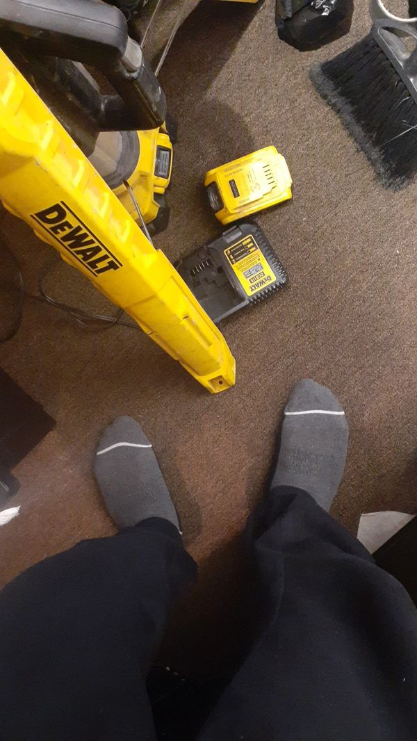 Dewalt light with extra battery and tool case