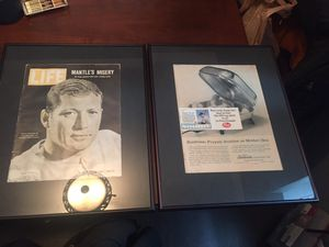 Beautiful framed Mickey Mantle TIME magazines for Sale in Madison Heights, MI