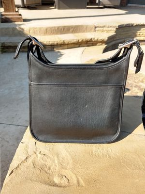 Coach black leather purse for Sale in Lewisville, TX