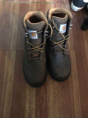 Carhardt size nine work boots for Sale in Detroit, MI