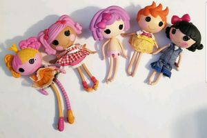 """12"""" Lalaloopsy Dolls Full Size Lot of 4 + one 15"""" Princess doll MGA 2009-2011 for Sale in St. Petersburg, FL"""