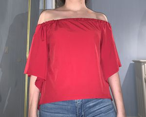 Red off the shoulder top for Sale in Las Vegas, NV