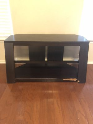 Wood and Glass Entertainment Center for Sale in Pflugerville, TX