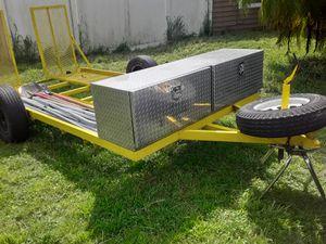 12 x 6 car trailer one car good condition spare tire diamond plated toolbox for Sale in Alafaya, FL