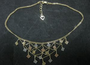 """Beautiful* 14k 585 Tri-Color Yellow Gold Bead Mesh Anklet 4.1 Grams """"Adjustable"""" for Sale in Aurora, IL"""