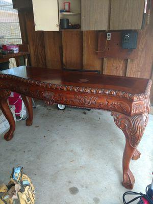 Sofa Table Mahogany Ball and Claw Sofa Table/Breakfast Buffet for Sale in Seminole, FL