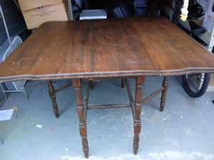 Antique gated 6 leg table made pf walnut for Sale in Nashville, TN