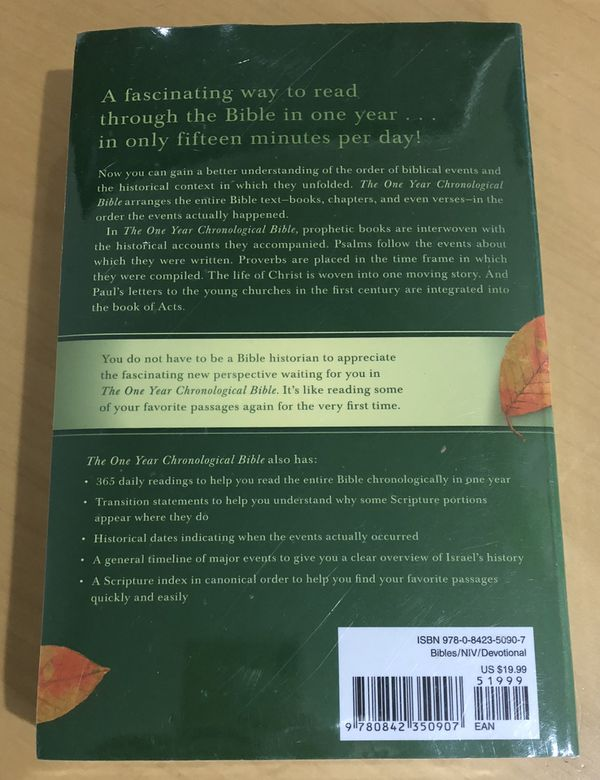 NIV One Year Chronological Bible *BRAND NEW* for Sale in Bear, DE - OfferUp