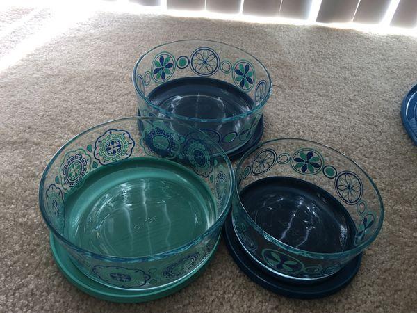 Glass Round Pyrex storage
